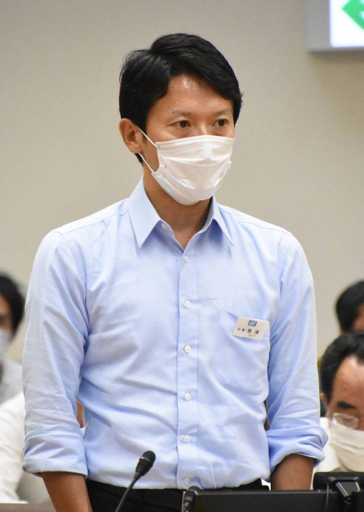 兵庫県の斎藤元彦知事=神戸市中央区