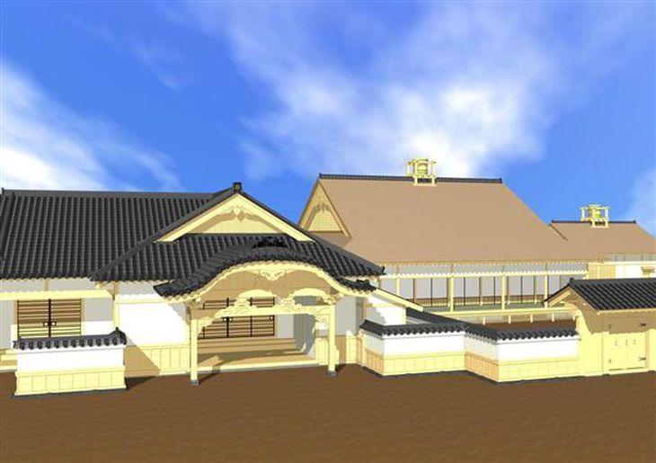 徳島・つるぎ高の生徒、洲本城御殿の図面再現 古い絵図分析、CGも披露