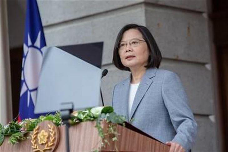 台湾の蔡英文総統(総統府提供)