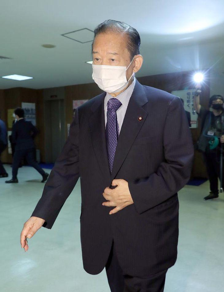 自民党・二階俊博幹事長=7日午前、東京・永田町の自民党本部(春名中撮影)