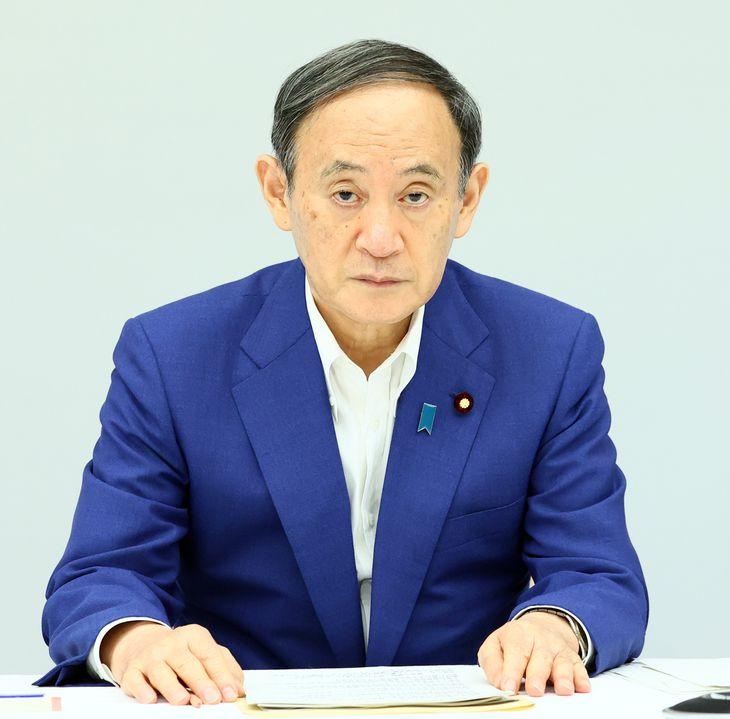 菅義偉首相=8月31日午前、首相官邸(春名中撮影)