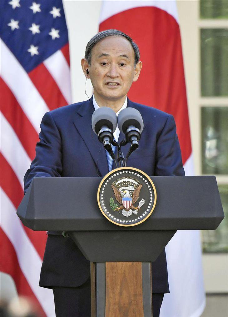 【日米首脳会談】菅首相、青の「勝負服」で臨んだ日米会談 普段通りの姿勢で親密に
