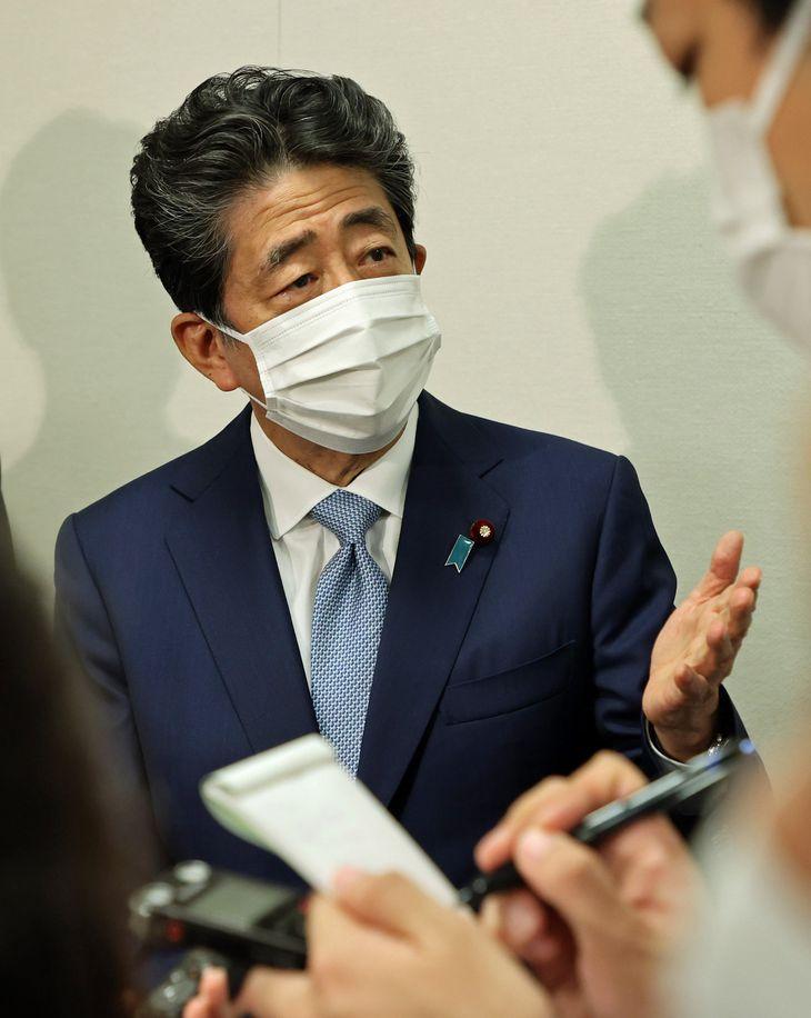 安倍晋三元首相(松本健吾撮影)