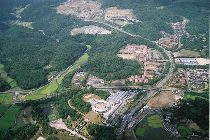 スーパーシティ構想に名乗りを上げている岡山県吉備中央町の「吉備高原都市」(岡山県提供)