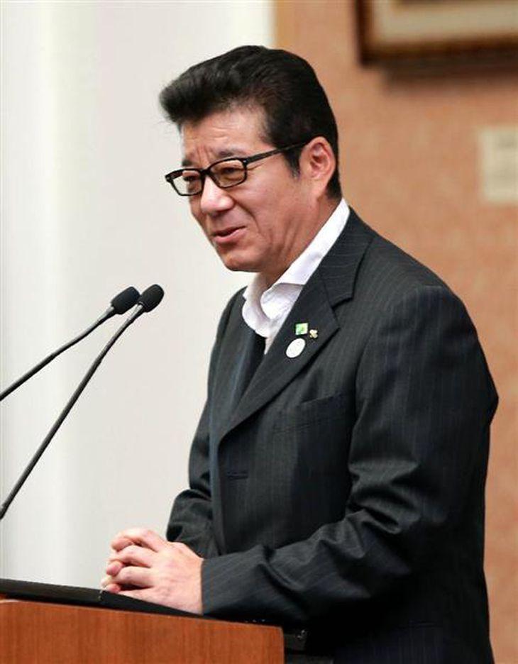 松井一郎氏(宮沢宗士郎撮影)