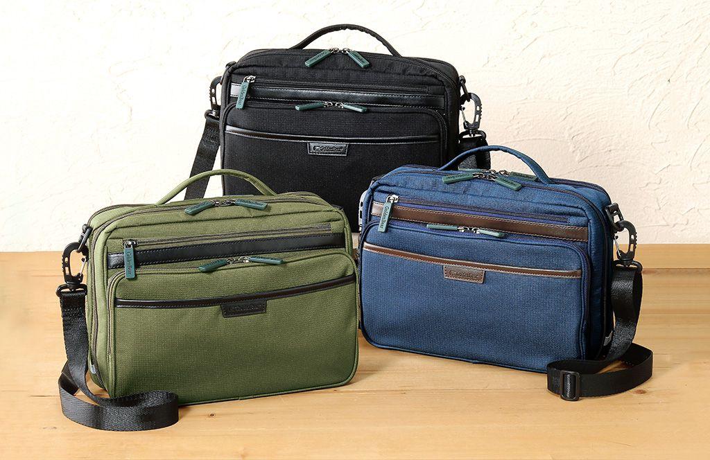 ポケットいっぱいで使いやすい。多収納2WAYバッグ
