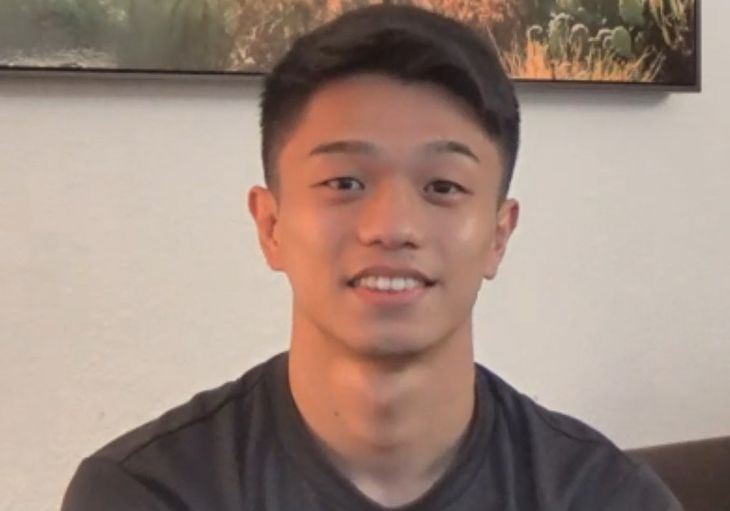 初防衛戦に向けて、オンラインで会見した中谷潤人