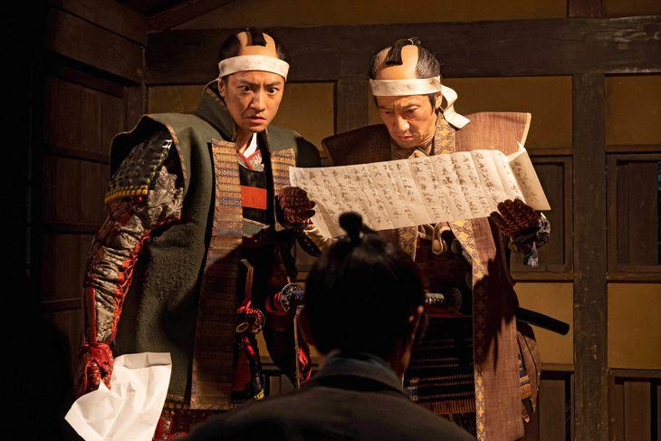 左から藤田小四郎(藤原季節)と武田耕雲斎(津田寛治) (C)NHK