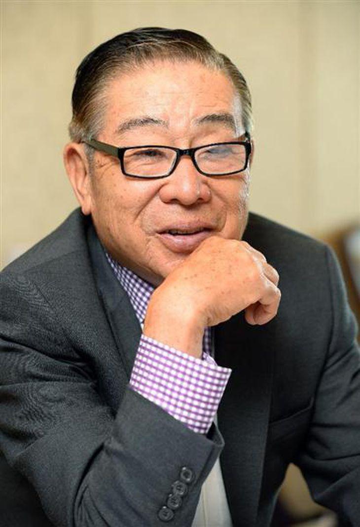 大橋巨泉さん=2013年10月27日(横幕雅大撮影)