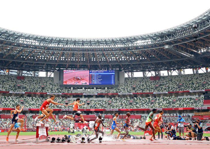 【東京五輪2020 陸上競技】陸上競技が始まったった国立競技場=30日(桐山弘太撮影)