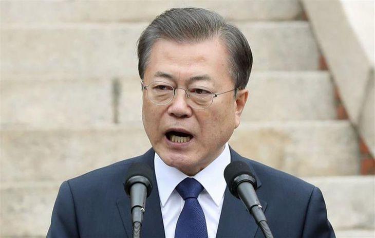 韓国の文在寅大統領(聯合=共同)