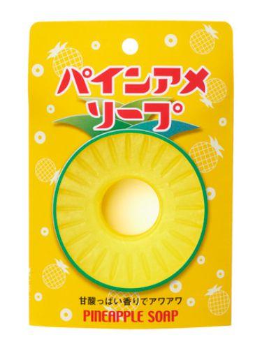 パインアメをそのまま大きくしたような可愛らしい石鹸「パインアメソープ」