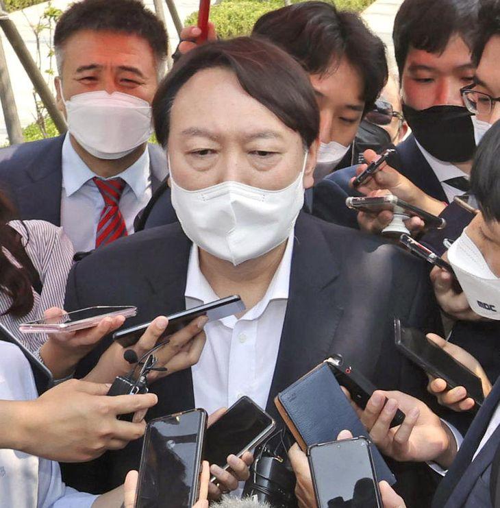 韓国の尹錫悦前検事総長(聯合=共同)