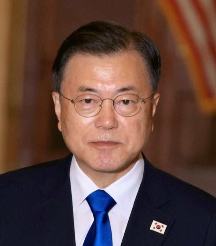 韓国の文在寅大統領(UPI=共同)