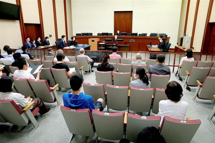 槙原敬之被告の初公判が開かれた東京地裁の法廷=21日午前(代表撮影)