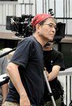 撮影中の平山秀幸監督