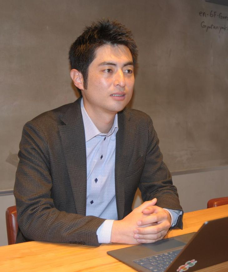 「地方で創業者が生まれやすくなる仕組みをつくりたい」と語るMAKOTO WILL社長の菅野永さん(石崎慶一撮影)