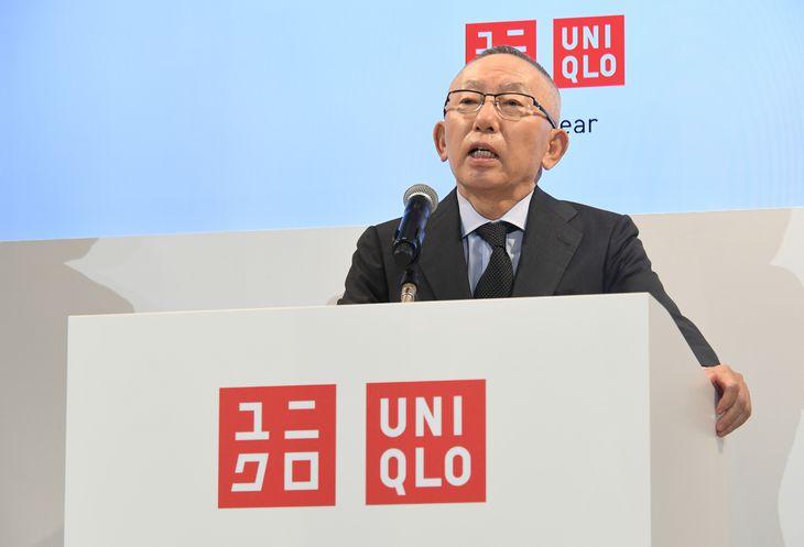 ファーストリテイリングの柳井正会長兼社長(酒巻俊介撮影)