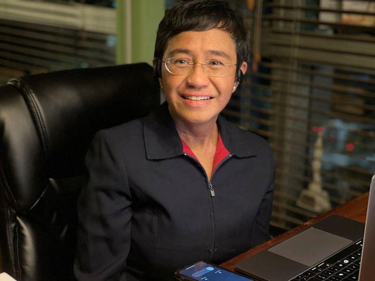 ノーベル平和賞受賞が決まったフィリピンのジャーナリスト、マリア・レッサ氏=8日、マニラ(ロイター)