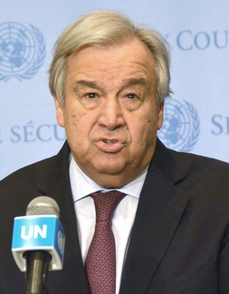 国連のアントニオ・グテレス事務総長